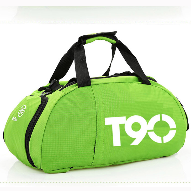 T90 Waterproof Gym Sports Shoes Bags Men Women Fitness Training Basketball Backpacks Wear Resistant Travel Sports Bags Green