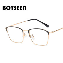 BOYSEEN Computer Glasses Transparent Eyeglasses for Women Men Spectacle Frame Oc