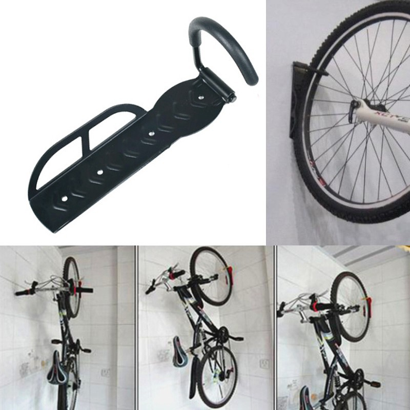 Black Bicycle Mountain Bike Storage Wall Mounted Rack Stands Steel Hanger Hook Bicycle Accessories-in Bicycle Rack from Sports u0026 Entertainment on ... & Black Bicycle Mountain Bike Storage Wall Mounted Rack Stands Steel ...
