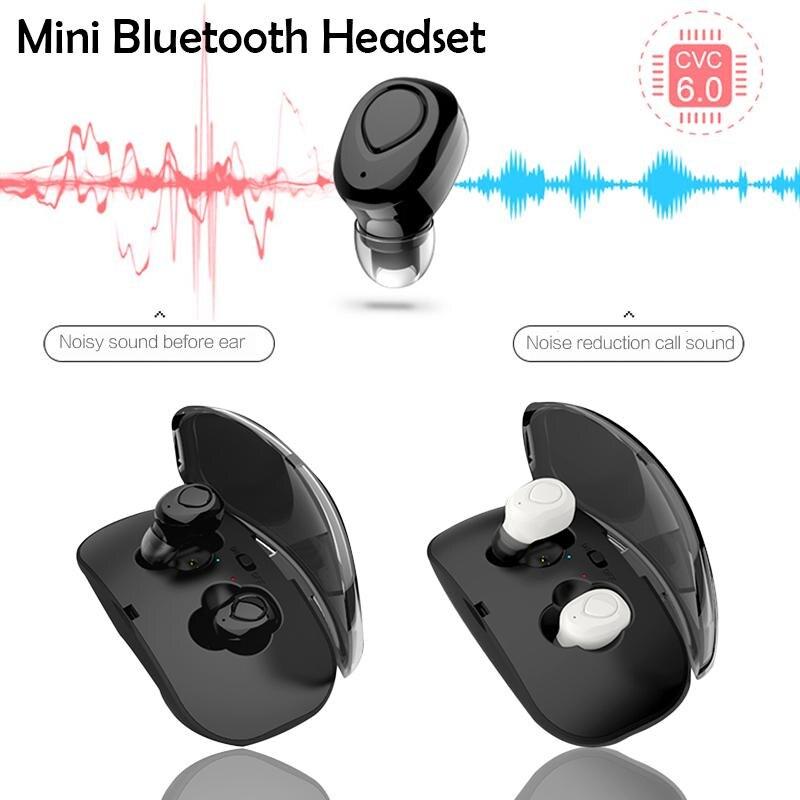 цена на Sport Earphone Wireless Mini Bluetooth Headset Earphones Bluetooth In Ear with Charging Box For Samsung Galaxy S9 S8 Note 8 C8