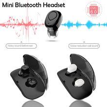 Sport hörlurar trådlösa Mini Bluetooth-hörlurar hörlurar Bluetooth i örat med laddningsbox för Samsung Galaxy S9 S8 Not 8 C8