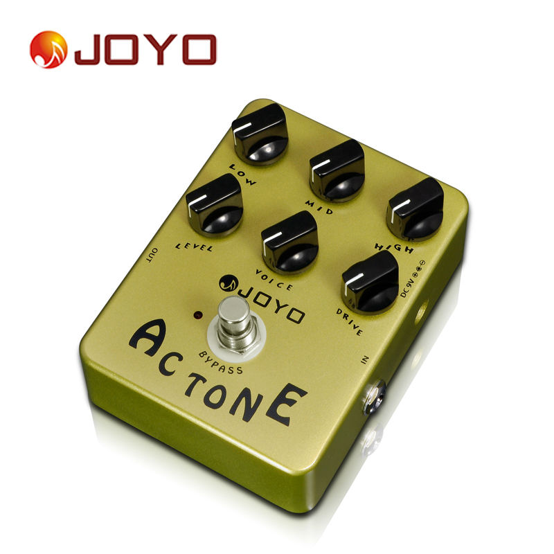 AC Tone Vox Amp Simulator Electric Guitar Effect Pedal True Bypass Guitar Pedal Musical Instrument Accessories aroma ac stage acoustic guitar simulator effect pedal aas 3 high sensitive durable top knob volume knob true bypass metal shell