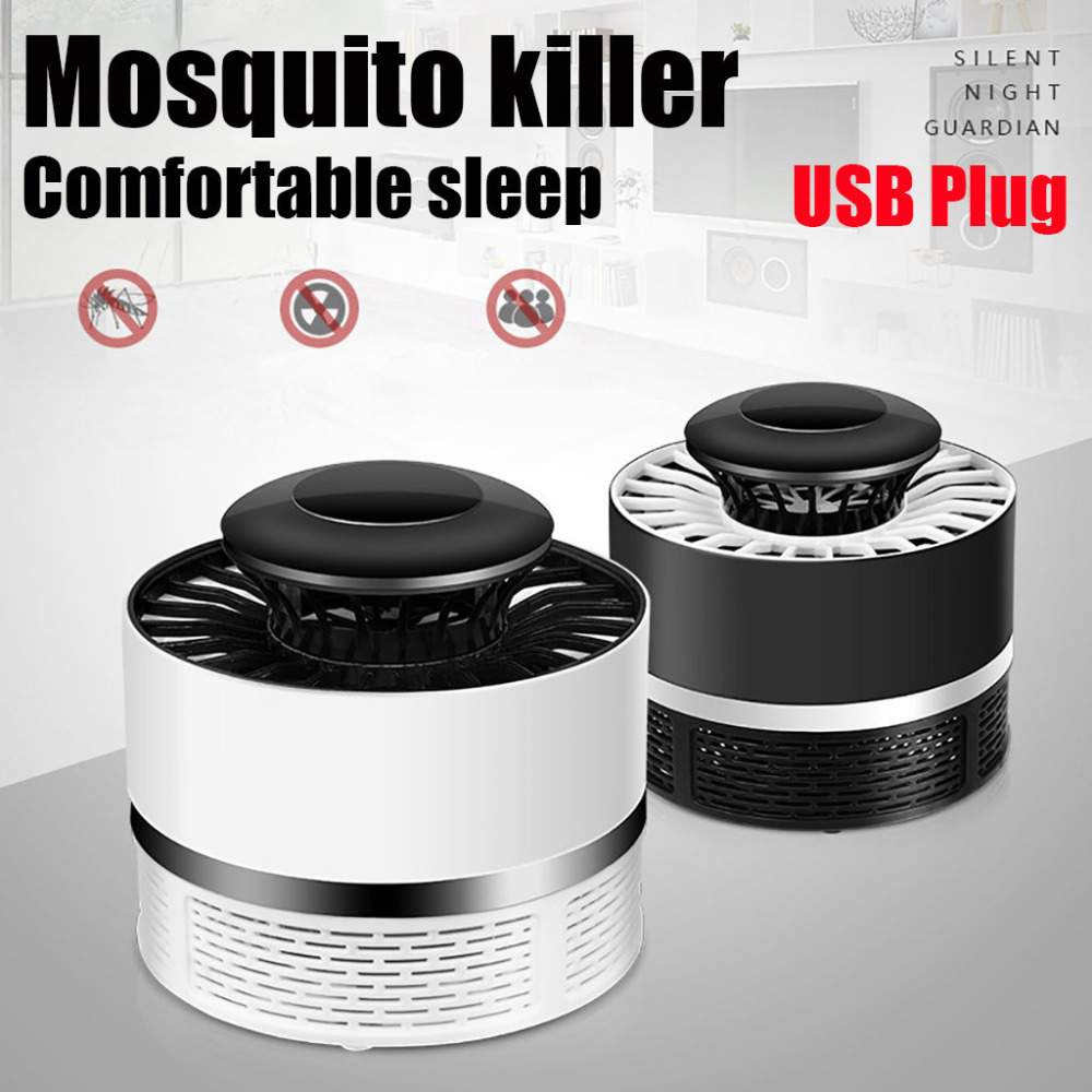 Mosquito Killer Light 5W USB Smart Optically Controlled Fly Insect Bug Killing Lamp Socket Electric Insect Night Housefly Zapper