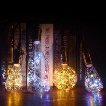ФОТО [mingben] led string light rgb copper silk lamp g95 st64 led lampara winebottle  e27 bulb for home cafe 110v/220v decoratio
