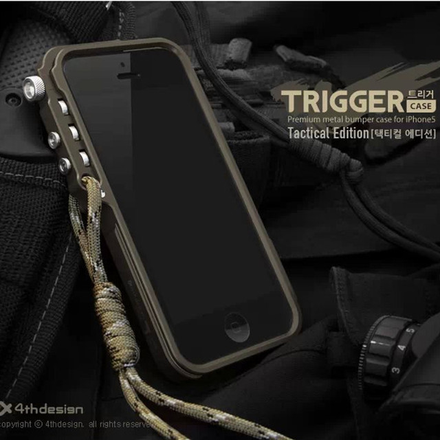 info for 1b860 6e457 US $7.29 24% OFF|Trigger metal bumper for iphone X 7 8 5 5S SE 4 6 6S Plus  4thdesign premium Aviation Aluminum bumper phone case tactical edition-in  ...