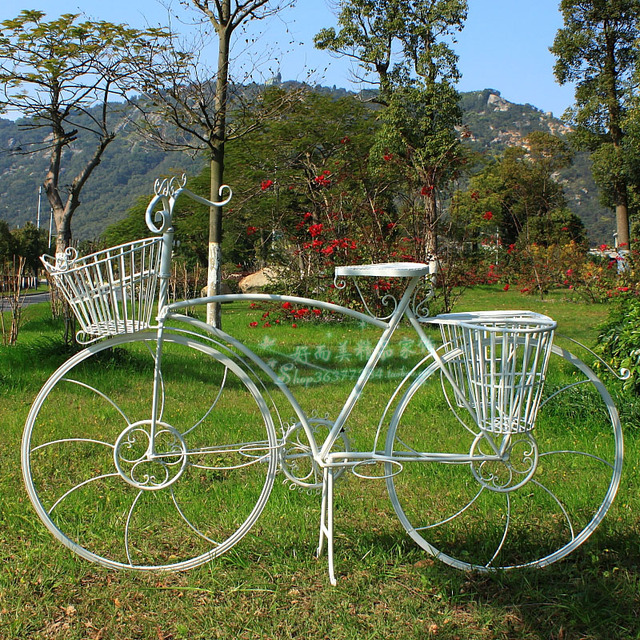 Wedding Supplies Props Wrought Iron Bicycle Flower Decoration