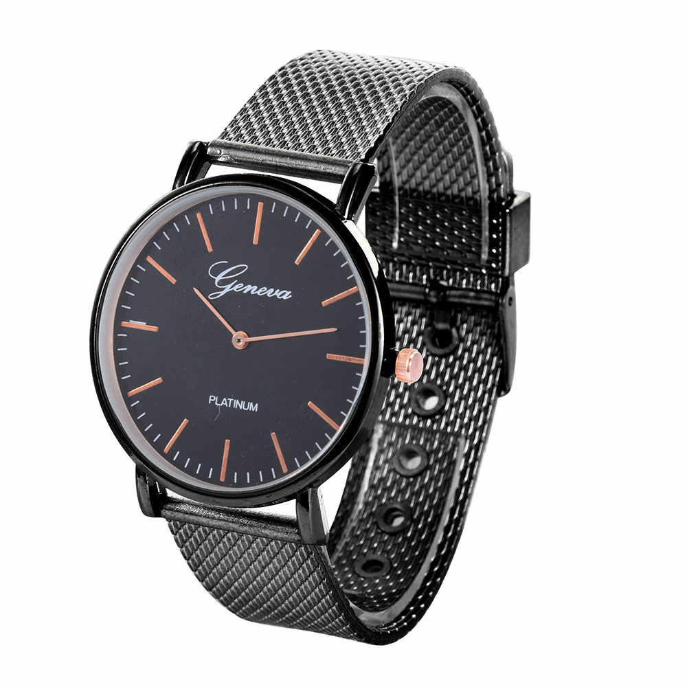 2019 relogio masculino watches men Luxury Stainless Steel Watch Quartz Military Sport Plastic Band Dial Business Wristwatches