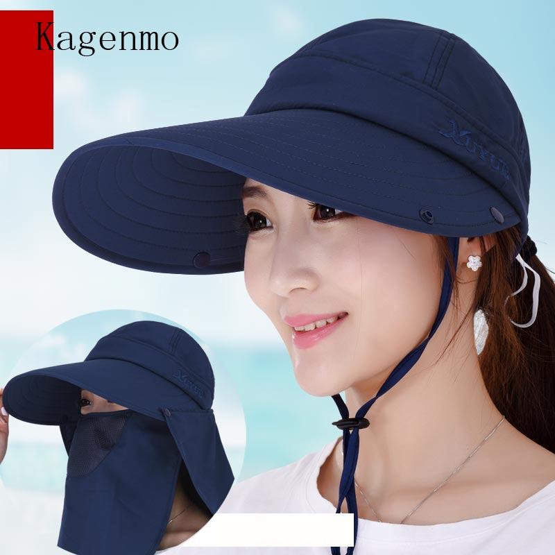 Kagenmo Hut Weiblichen Sommer Sunbonnet Hals Kappe Mehrzweck Sonnenhut Strandkappe Visier Sonnenhut Wir Haben Lob Von Kunden Gewonnen Kopfbedeckungen Für Damen Bekleidung Zubehör