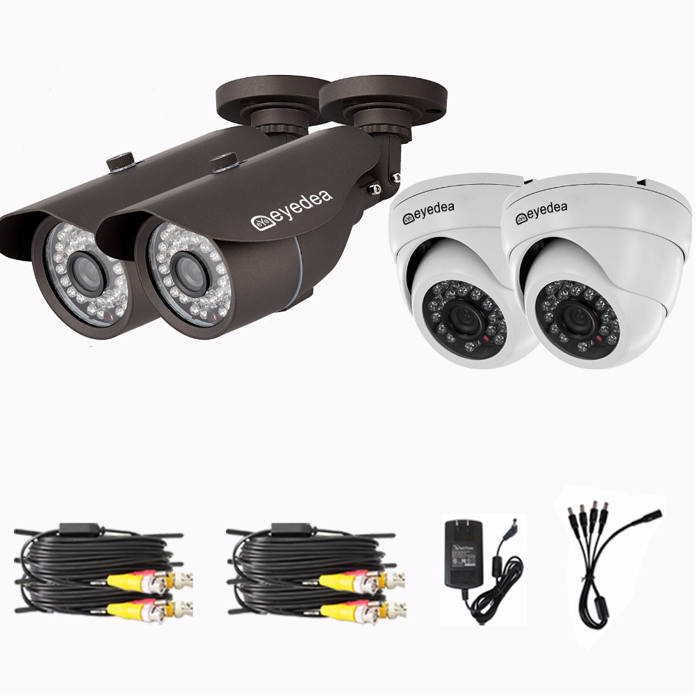 Mothers Day Eyedea Surveillance DVR 8 CH 1080P Bullet Dome CMOS Outdoor Waterproof Night Vision CCTV Security Camera System 1TB