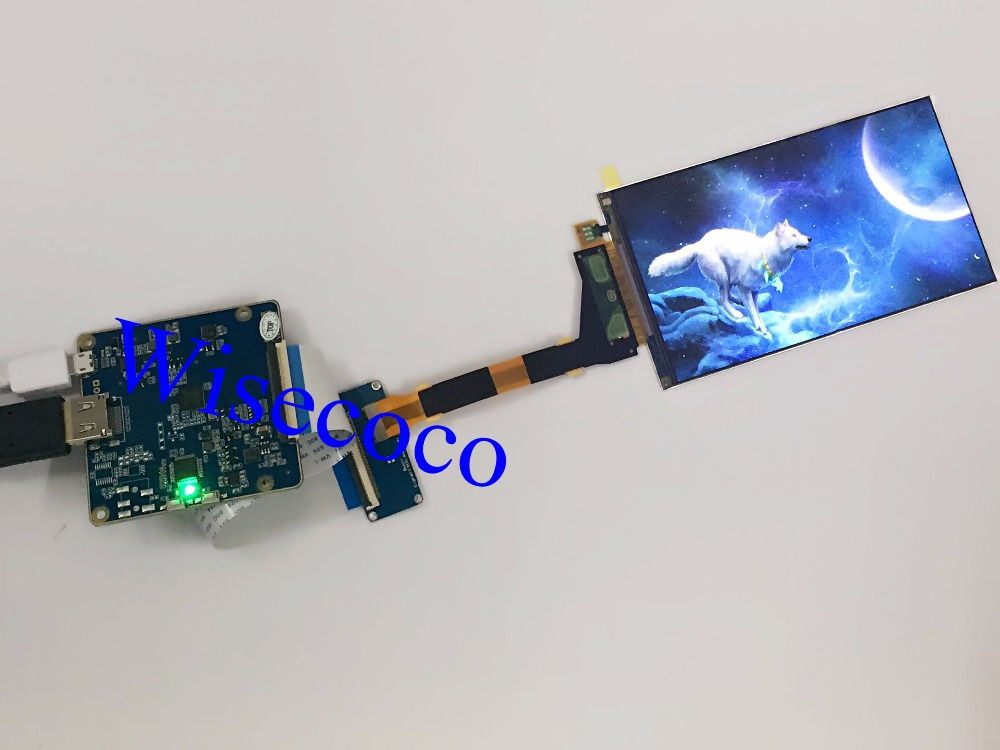 New 5.5  LS055R1SX04 2K 2560*1440 LCD screen display panel for VR product  with driver board  video projector  DIY projector