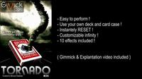 TORNADO BOX By Mickael Chatelain Gimmick Online Instruct Card Magic Trick Close Up Illusion Fun Mentalism