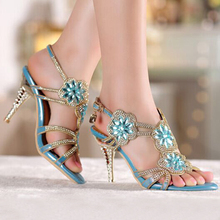 Middle High Heel Sandals Beaded Rhinestone Open Toe Lady Bridesmaid Summer Cool Elegant Shoes Bridal Wedding Dresses Shoe