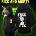 Hot New Rick and Morty  Hoodie Logo Winter JiaRong Fleece Mens Sweatshirts Free Shipping