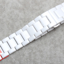 New arrival Watchband Ceramic White Watchbands straps bracelet 20mm Strap Concave end 11mm for dress diamond watches accessories