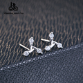Free Shipping Fashion 925 Sterling Silver Stud Earrings Vintage The windmill Earrings For Women Jewelry