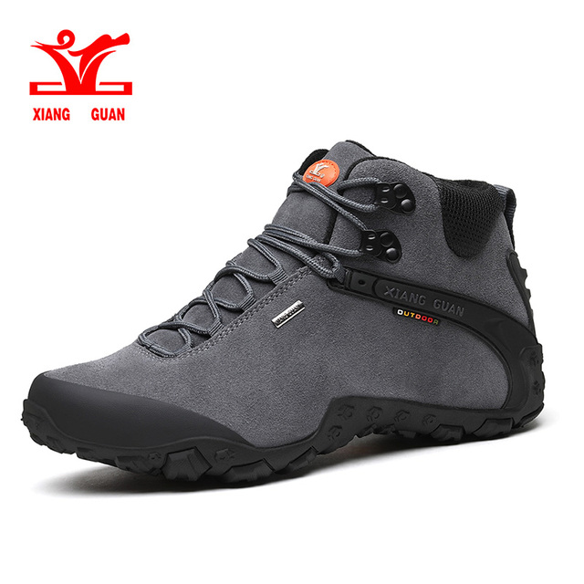 XIANG GUAN Outdoor Shoes High Quality Anti-Fur Man Martin Hiking Shoes Travel Desert Tactical boots Warm Sneakers EUR 36-48