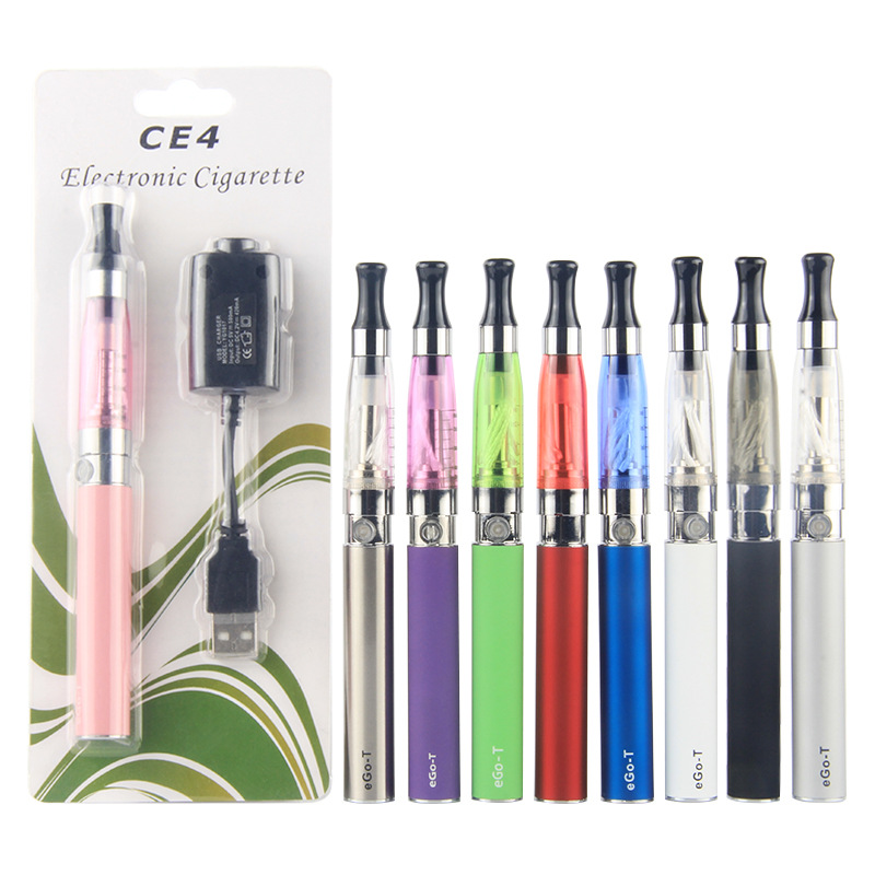 Эго ce4 starter kit электронная сигарета VAPE ручка эго <font><b>t</b></font> Батарея 1.6 мл CE4 распылитель с USB Зарядное устройство блистер Наборы 10 Цвета