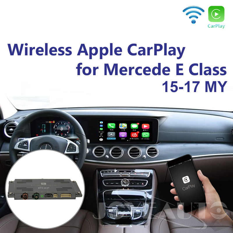 Joyeauto Aftermarket Wireless Apple CarPlay Retrofit for Mercedes E Class  OEM W212 15-19 NTG5 Car Play with Rear View Camera