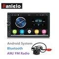 2 Din Android автомобильный стерео 7-дюймовый сенсорный экран 1024*600 четырехъядерный 1 Гб + 16 Гб Авторадио Bluetooth/Wifi/AM/FM/USB/AUX/задняя камера