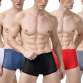Men's Sexy Ice Silk Boxer Shorts Fashion Plus Size Breathable Underwear Underpants
