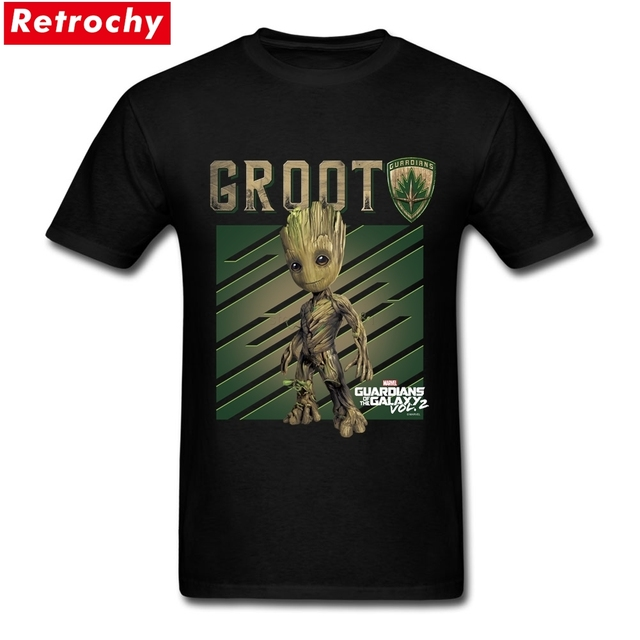 Mens Guardians Of The Galaxy Tee Shirt Sites Groot Custom Cotton ...