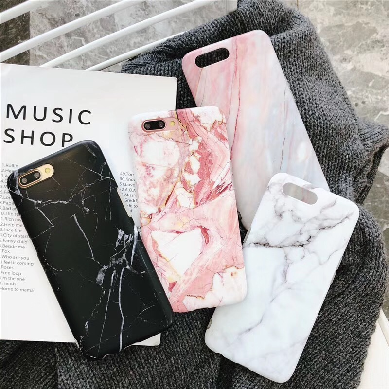 Chic Granite Stone Marble Texture Pattern Case For iPhone XS Max XR 6 6S 7 8 Plus X Thin Soft IMD Phone Cases Cover Coque