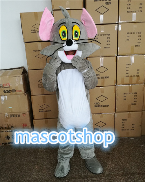 Adult size cartoon dolls Tom cat Mascot Costumes stage performance clothing Tom cat Mascot Costumes