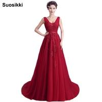 New arrival sexy party evening dresses Long dress Vestido de Festa A-line appliques beading gown V-neck dress free shipping