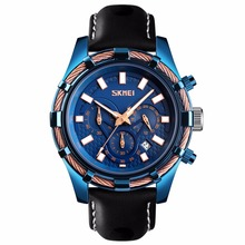 купить Skmei Men's Watch Quartz Analog Auto Date Luminous Hands Wrist Watches Leather Strap Business Military Wristwatch for Men Gift по цене 1433.82 рублей
