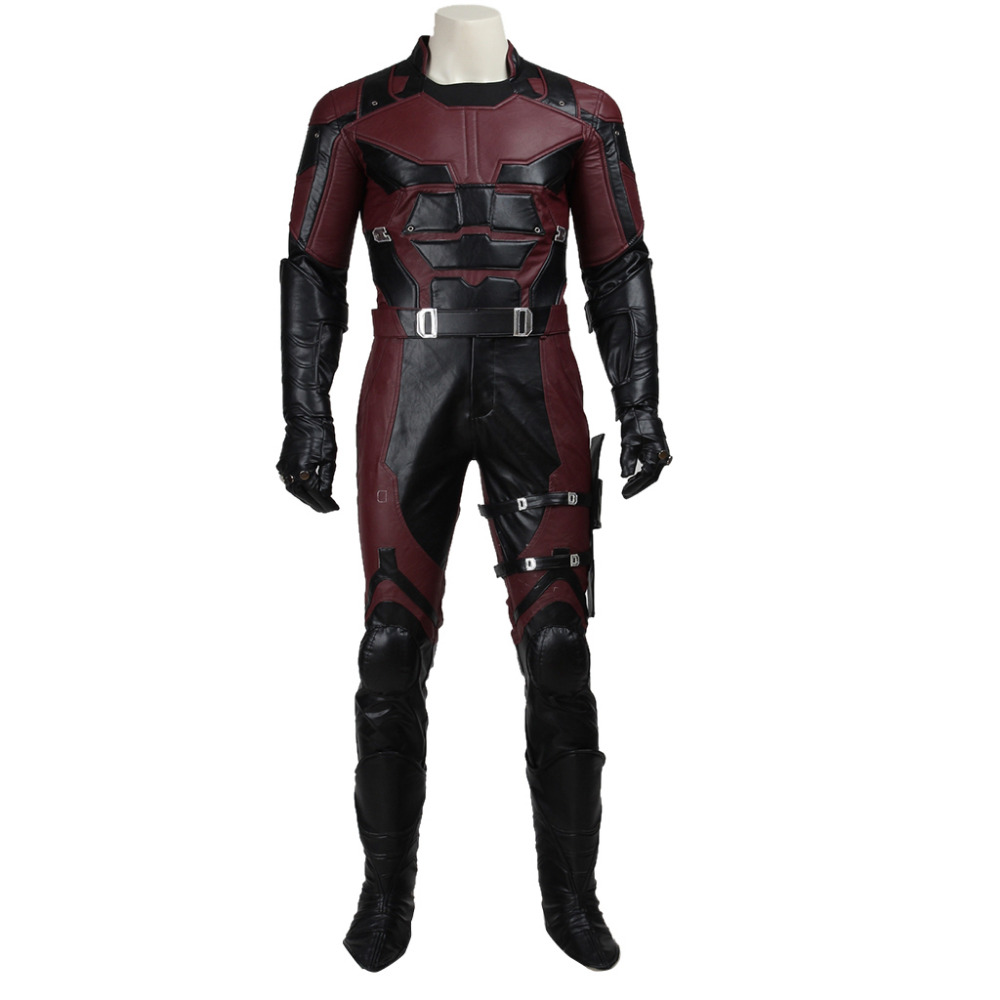 Marvel Comics Daredevil Costume Outfit Adult Men's Halloween Carnival Costume Cosplay