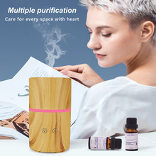 200ml ultrasonic aroma diffuser air humidifier with Bluetooth speaker essential oil diffuser LED night light for home office(China)