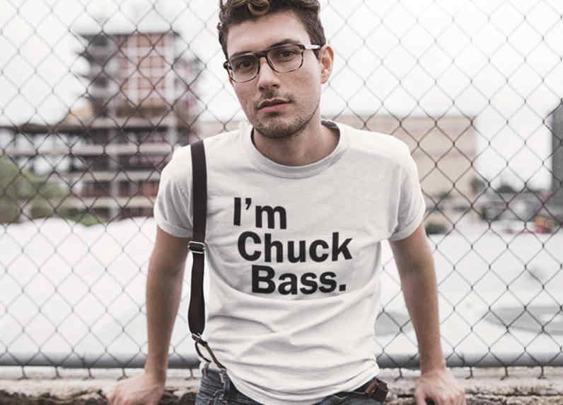 Eu sou chuck baixo t-camisa dos homens t camisa engraçada t camisa unissex camisa da gossip girl ed westwick gráfico t camisa impressa