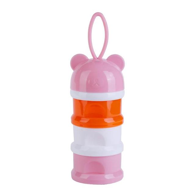 Three-Layer Cartoon Baby Powder Dispenser