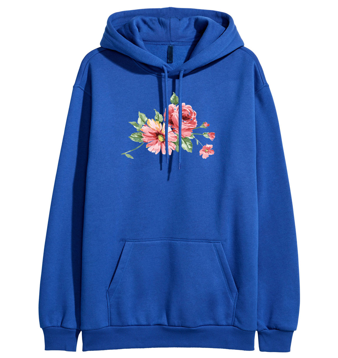 Women flower print long sleeve hoodies 2019 autumn winter fleece pullovers streetwear femme fitness sweatshirts pullovers