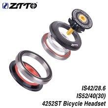 Ztto 4252st fone de ouvido para bicicleta, rolamento de bicicleta, 42mm 52mm, cnc 1 1/8