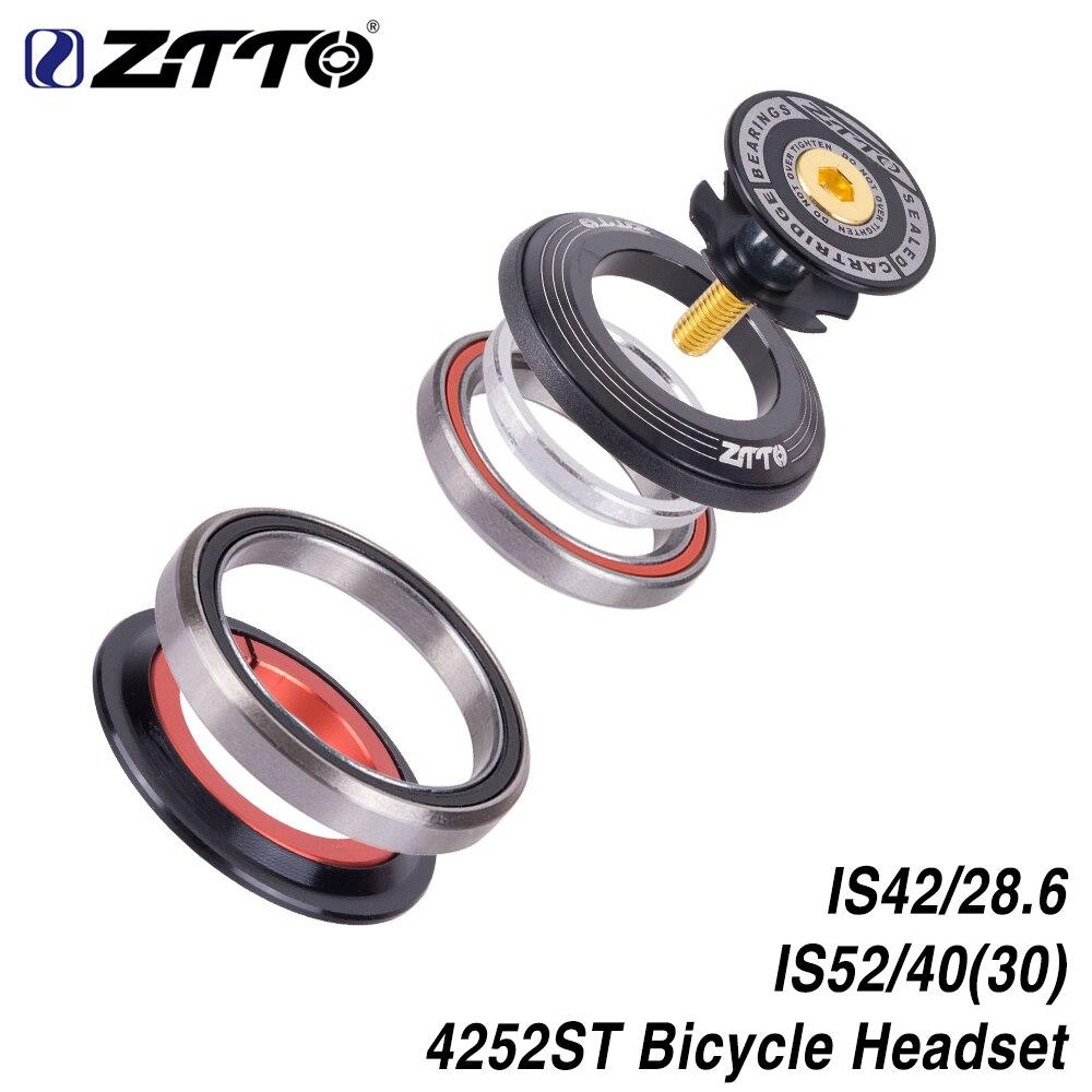 ZTTO 4252ST Headset Rolamento Bicicleta 42mm 52mm CNC 1 1/8