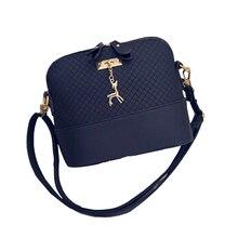 2017 Hot sale Messenger Bag New Fashion mini woven shell Bag with Sweet Deer Women shoulder Messenger Bag five colors