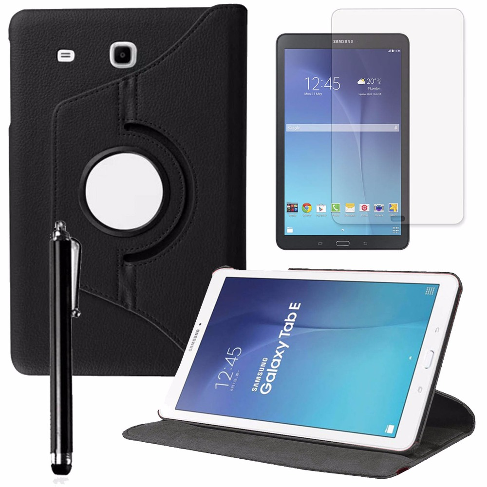 360 Degree Rotating Case Cover For Samsung Galaxy Tab E 9.6 SM-T560 PU Leather Stand Tablet Case Cover