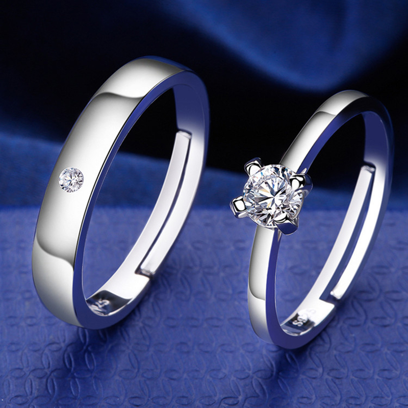 Qevila Fashion Jewelry Rings Romantic Engagement Wedding Rings Original Design Jewelry Cubic Zirconia Ring for Women Men Lover (1)