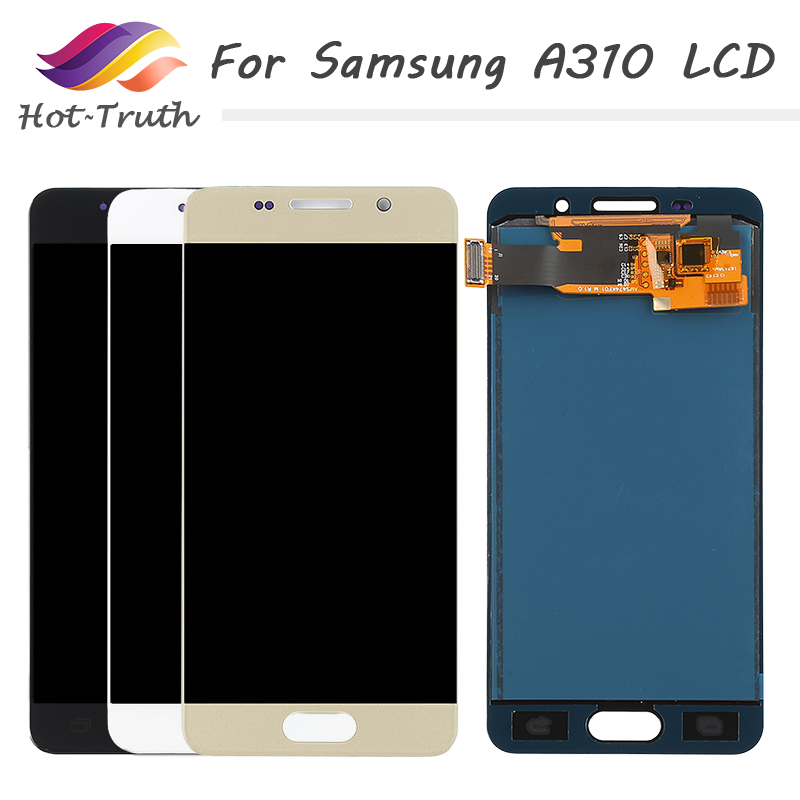 For <font><b>SAMSUNG</b></font> Galaxy A3 2016 <font><b>A310</b></font> <font><b>LCD</b></font> Display Touch Screen Digitizer Replacement Parts A310F A310M A310Y 720*1280 4.70 inch <font><b>LCD</b></font> image