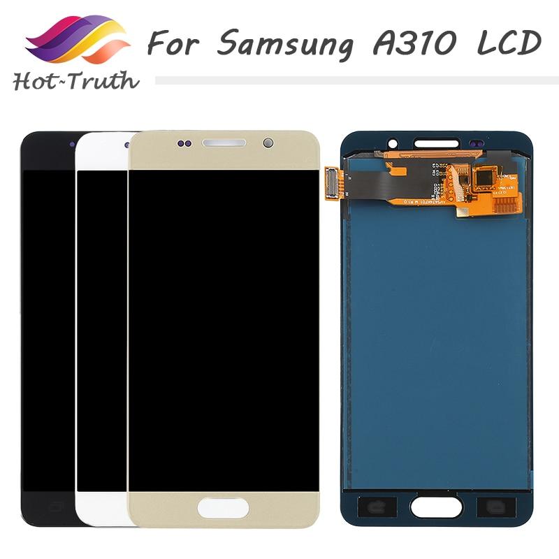 Pour SAMSUNG Galaxy A3 2016 A310 LCD écran tactile numériseur pièces de rechange A310F A310M A310Y 720*1280 4.70 pouces LCD