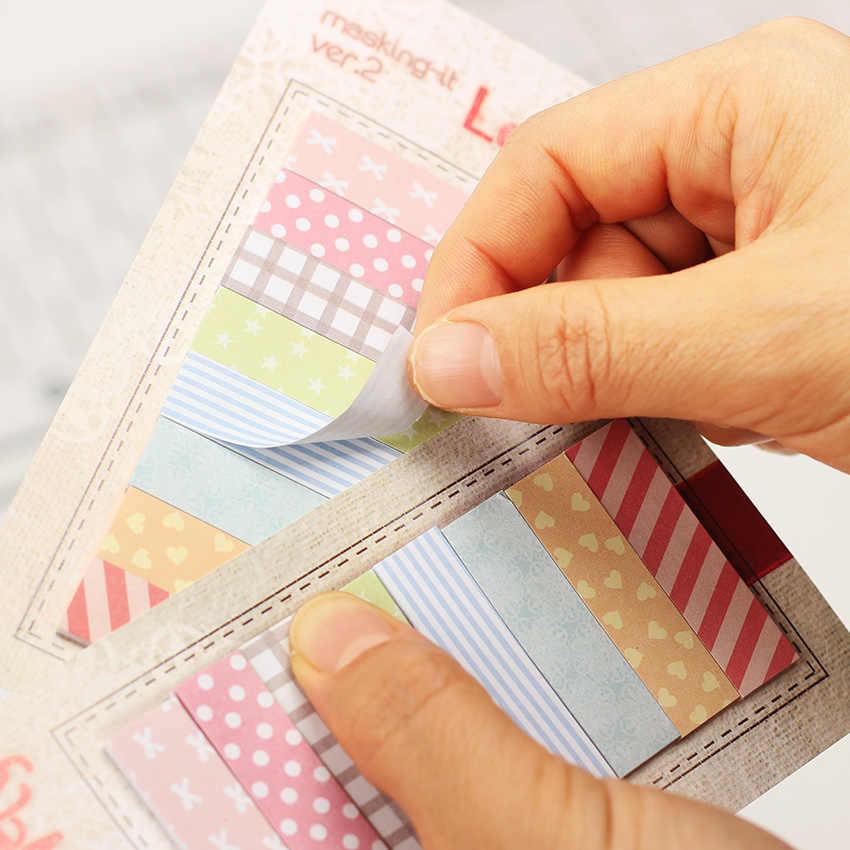 Papelería de oficina notas adhesivas Corea lindo Kawaii 480 páginas pegatina marcador punto It marcador Memo pegatina papel