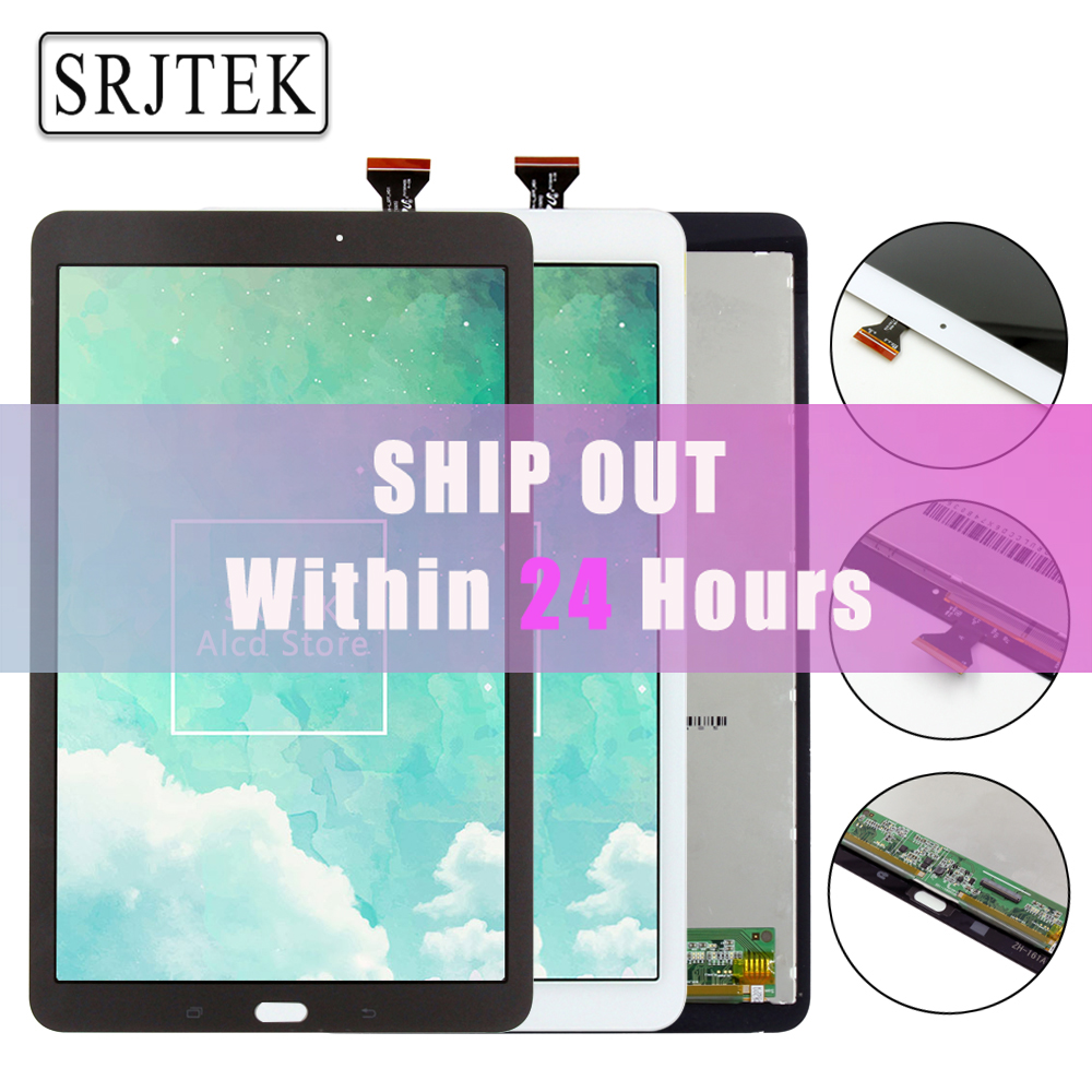 Srjtek 9.6 For Samsung Galaxy Tab E 9.6 SM-T560 T560 T561 LCD Display Touch Screen Digitizer Matrix Tablet PC Assembly Parts lcd display touch screen digitizer assembly replacements for samsung galaxy tab e t560 sm t560nu 9 6 free shipping