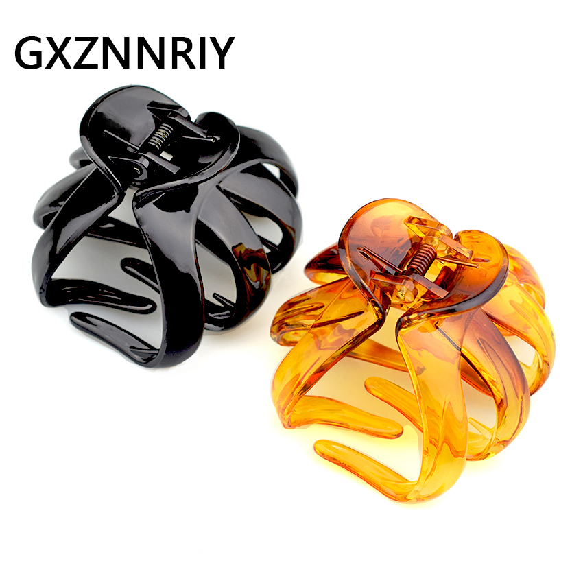 8cm Big Hair Claw Clip for Women Accessories Black Crab Brown Claws Clips Hairclip Hairpins Clamp Plastic Fashion Lady   Headwear