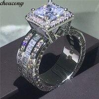 Choucong Винтажное кольцо округлой формы 925 стерлингового серебра принцесса огранка AAAAA cz Камень Обручальное кольцо кольца для женщин ювелирны...