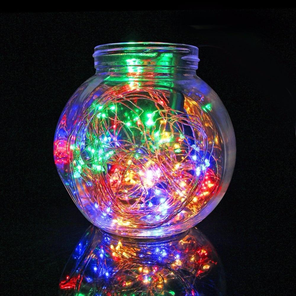 AXESHINE 200 LEDS 2M Branch String Lights,20 LED x10 String Starry Lights,12V Flexible Copper Wire Light LED Starry Timbo Lights