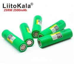 Liitokala 18650 2500 mah INR1865025R 20A разрядный литий батареи электронных сигарет Батарея 18650 2500 25R