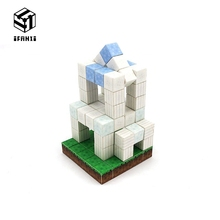 купить Minecraft Magnetic Building Blocks Models Bricks Hand Paste Compatible With Lego DIY Brain Toy Hardcover-Plain Building Set по цене 1543.61 рублей