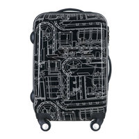 New Men and Women Black Mechanical lines Travel Suitcase Universal Wheels Trolley Luggage Bags Rolling Luggage