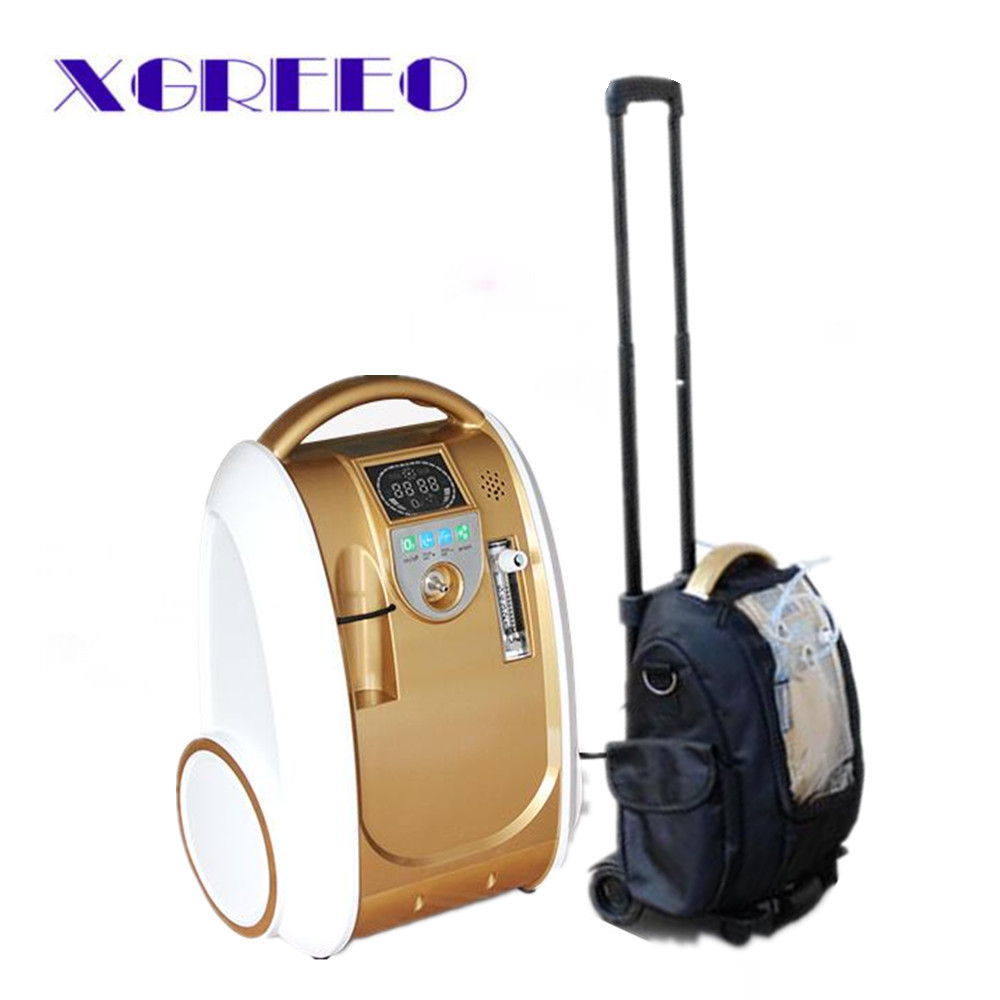 XGREEO Portable 5L Battery Oxygen Concentrator Home Car and Outdoor Travel O2 Generator oxygen tank medical oxygen concentrator for respiratory diseases 110v 220v oxygen generator copd oxygen supplying machine